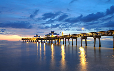 Naples Florida Pier at Dusk